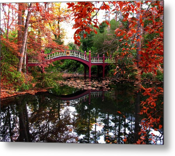 William And Mary College  Crim Dell Bridge Metal Print