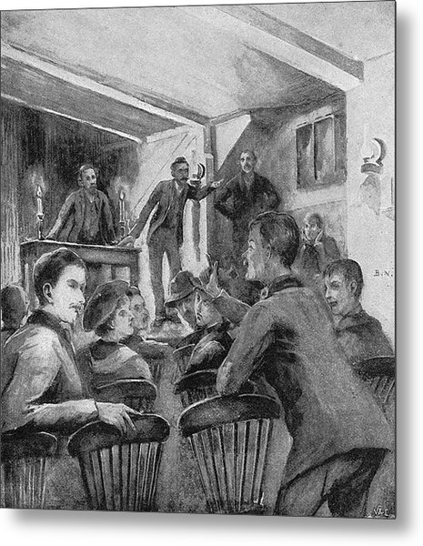 William Morris  Socialist Meeting At Metal Print by Mary Evans Picture Library