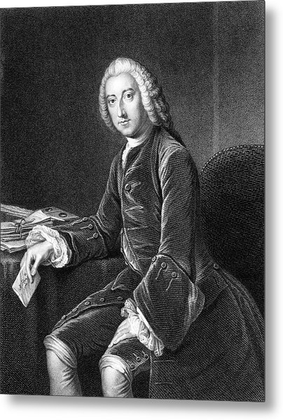 William Pitt - The Elder  1st Earl Metal Print by Mary Evans Picture Library