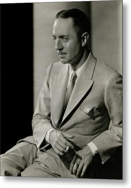 William Powell Wearing A Suit Metal Print by Barnaba
