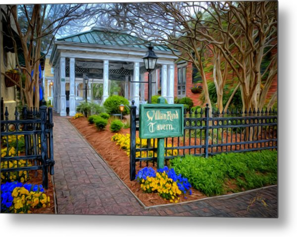 William Rand Tavern At Smithfield Inn Metal Print by Williams-Cairns Photography LLC