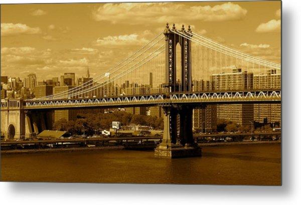 Williamsburg Bridge New York City Metal Print