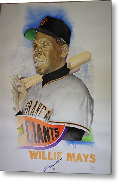 Willie Mays Metal Print by Robert  Myers