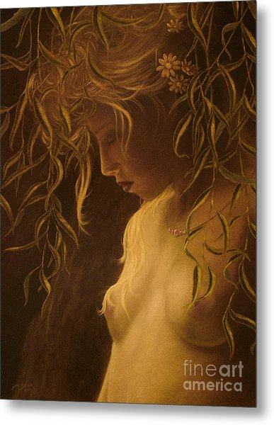 Willow Girl Metal Print
