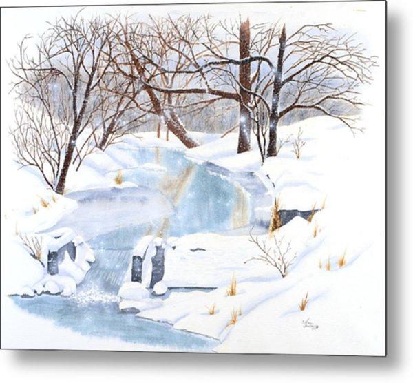 Willowood Winter Metal Print