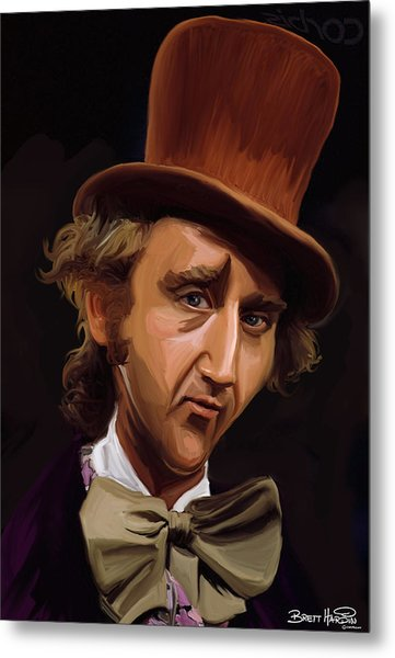 Willy Wonka Metal Print