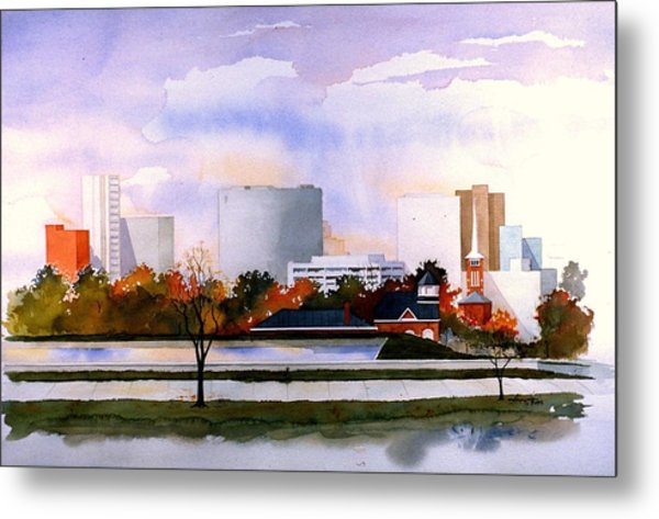 Wilmington Resevoir Skyline Metal Print