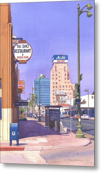 Wilshire Blvd At Mansfield Metal Print