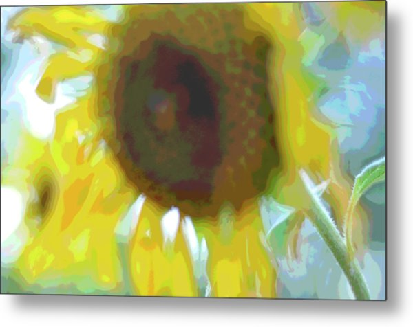 'wilted' Abstract Metal Print
