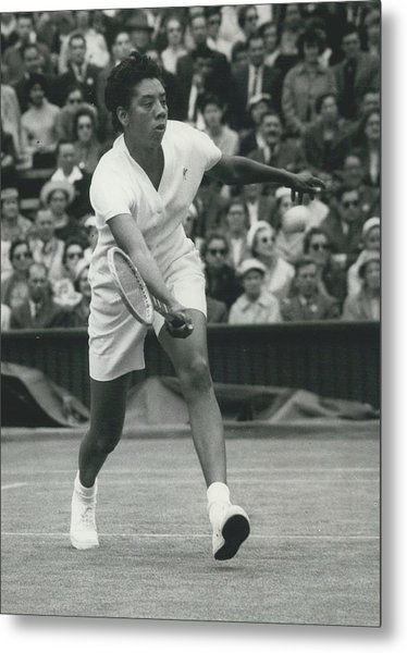 Wimbledon Championships - Second Day..., Althea Gibson In Metal Print by Retro Images Archive