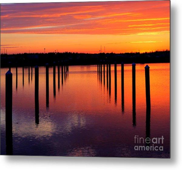 Winchester Bay Sunset Metal Print
