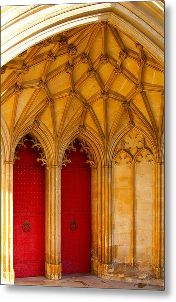 Winchester Cathedral Archway - Mike Hope Metal Print