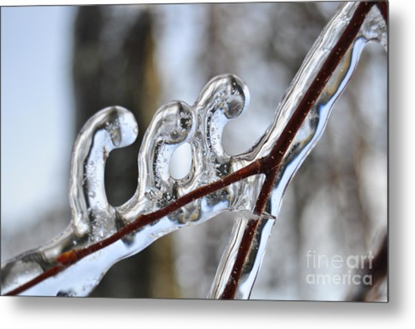 Wind-blown Icicles Metal Print