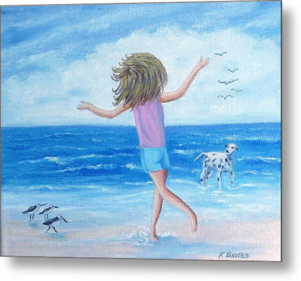 Wind In My Hair Metal Print