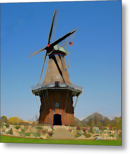 Wind Mill  Metal Print by Robert Pearson