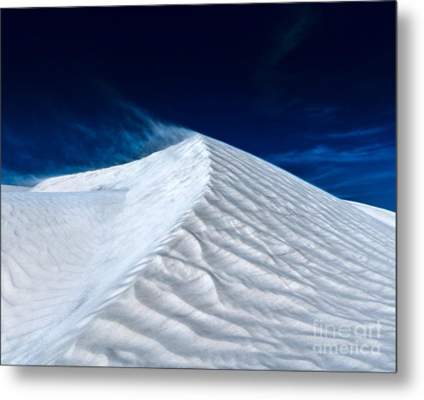 Wind Over White Sands Metal Print