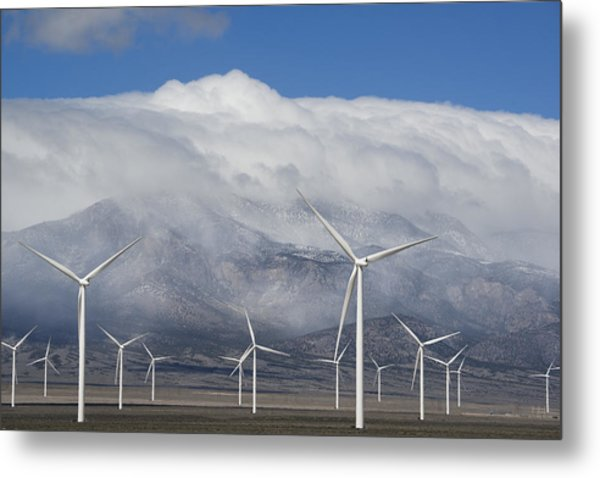Wind Turbines Schell Creek Range Nevada Metal Print
