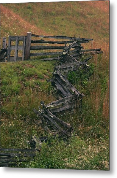 Winding Fence Metal Print by Bill Marder
