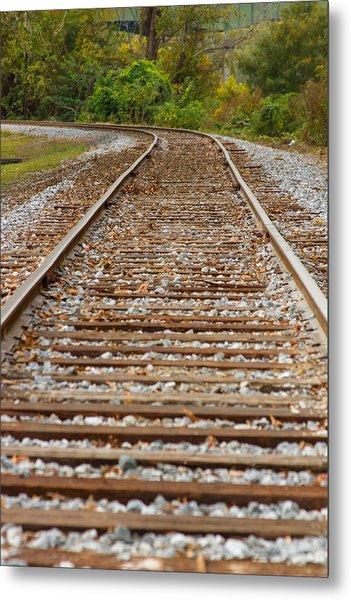 Winding Rails Metal Print by Heather Roper