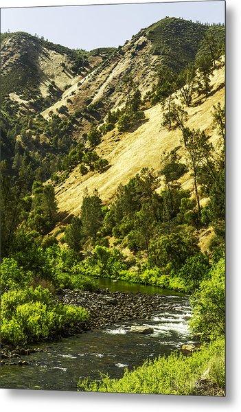 Winding Stream-yosemite-series 01 Metal Print by David Allen Pierson
