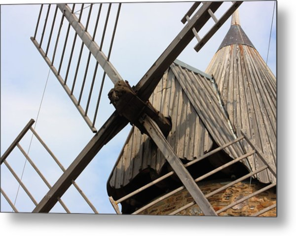 Windmill Metal Print by Carrie Warlaumont
