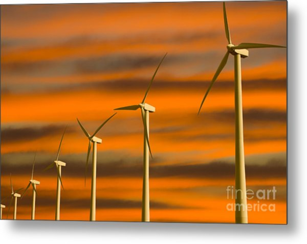 Windmill Farm Metal Print