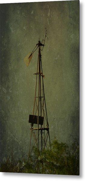 Windmill In Summer Metal Print by Mikki Cromer