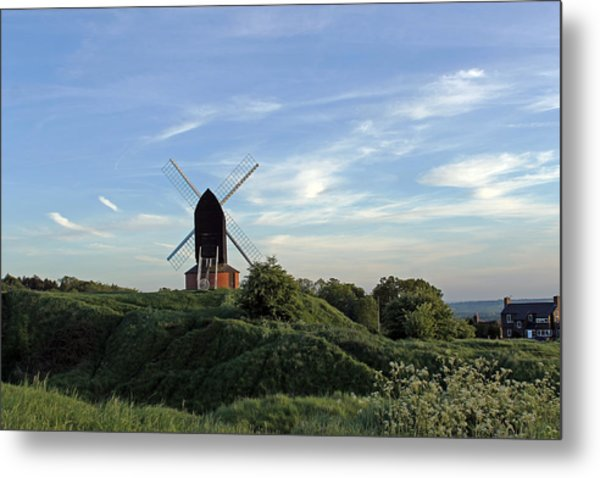 Windmill On Brill Common Metal Print