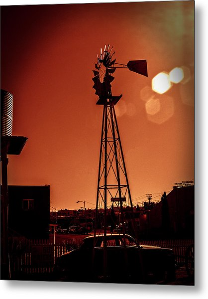 Metal Print featuring the photograph Windmill On Route66 by William Havle