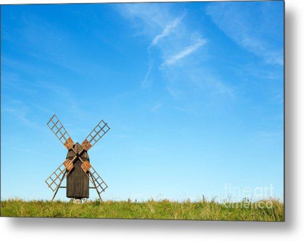 Windmill Portrait Metal Print