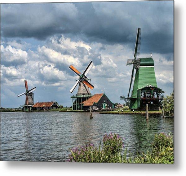 Windmill Trio Metal Print