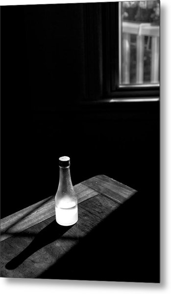 Window And Bottle Metal Print by Guillermo Hakim