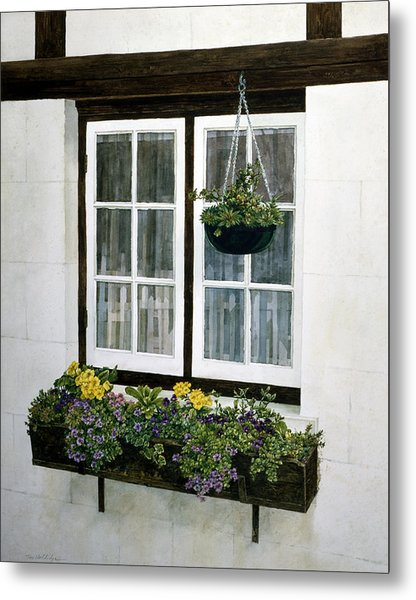 Window Box Metal Print