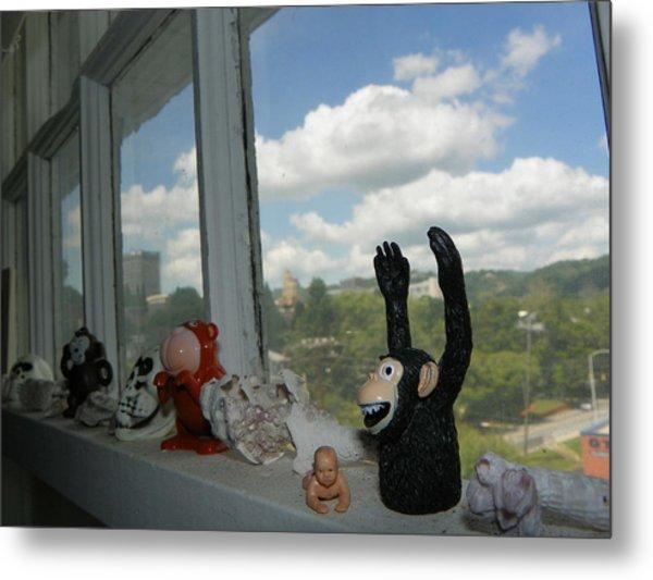Window Buddies Metal Print by Bernie Smolnik