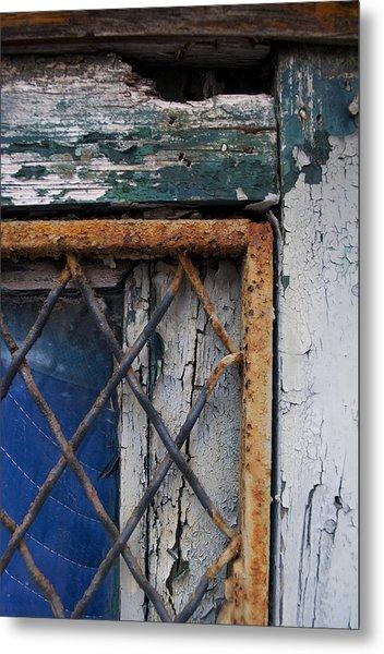 Window Corner Metal Print by Gretchen Lally