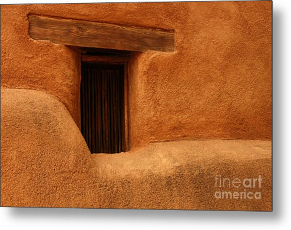 Window Detail Degrazia Mission In The Sun Metal Print