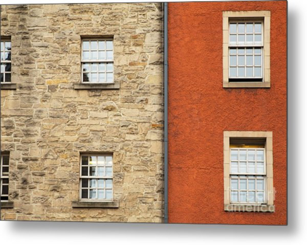 Window Detail Edinburgh Metal Print