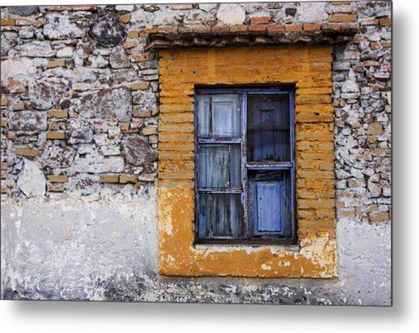 Window Detail Mexico Metal Print