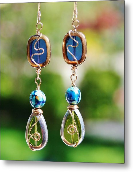 Window Earrings Metal Print