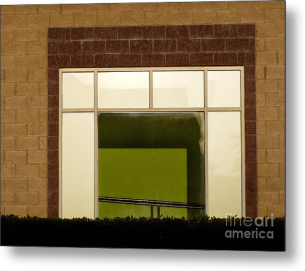 Window Frame Metal Print