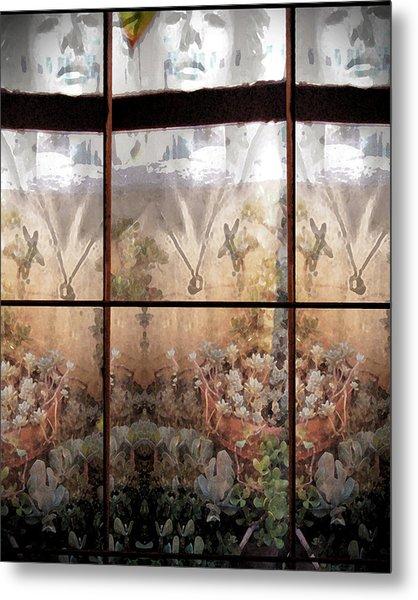 Window Garden Metal Print