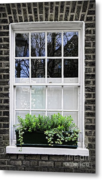 Window In London Metal Print