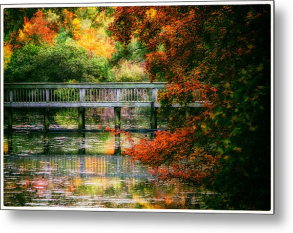 Window Into Autumn Metal Print