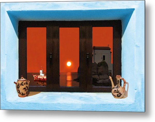Metal Print featuring the photograph Window Into Greece 4 by Eric Kempson