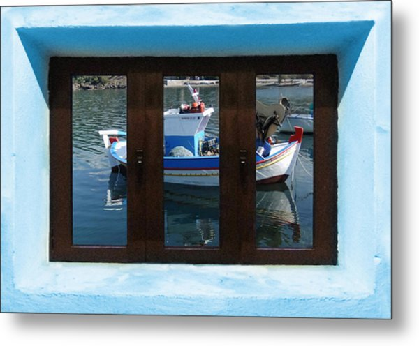 Metal Print featuring the digital art Window Into Greece  by Eric Kempson