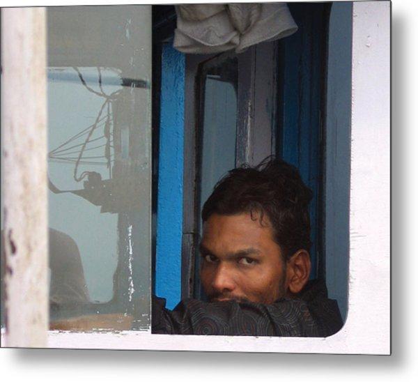 Window Man Metal Print
