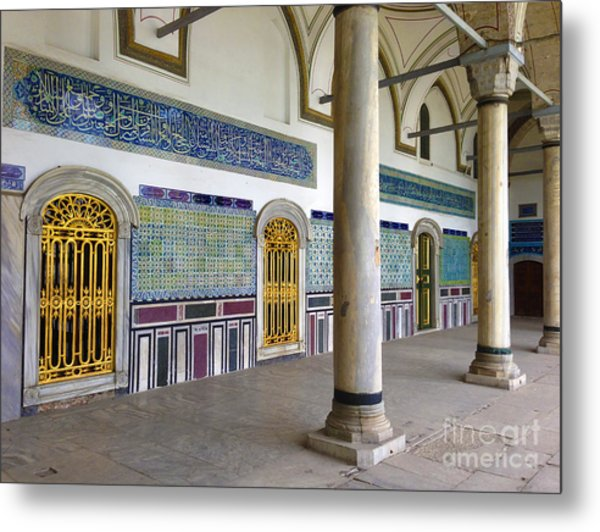 Window Of The Chamber Of The Holy Mantle In The Topkapi Palace Istanbul Turkey Metal Print by PIXELS  XPOSED Ralph A Ledergerber Photography