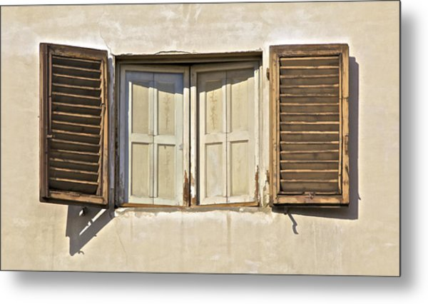 Window Of Tuscany Metal Print
