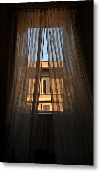 Window On Rome Metal Print