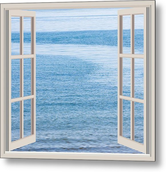 Window On The Sea Metal Print by John Vito Figorito